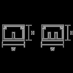 Canaleta 2 vías